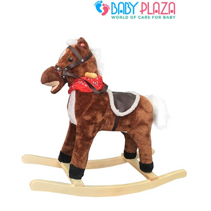 ngựa bập bênh bằng gỗ có nhạc