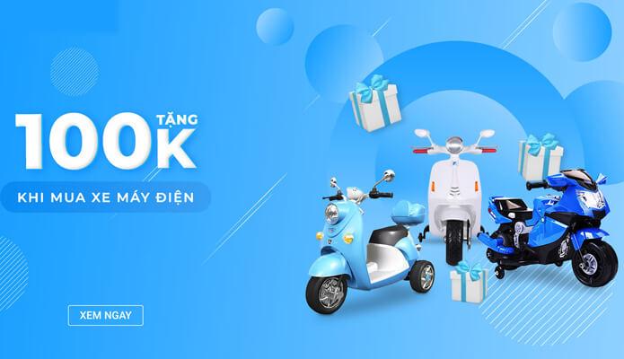 sale to up 50% các dòng sản phẩm xe máy điện trẻ em