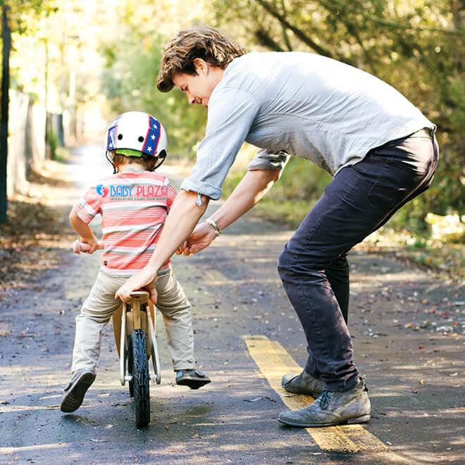 Các bước dạy con đi xe đạp