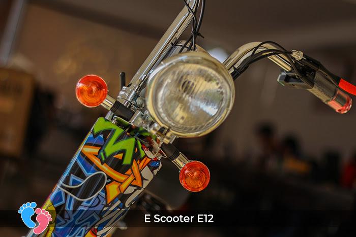 đèn trước xe điện e-scooter e12