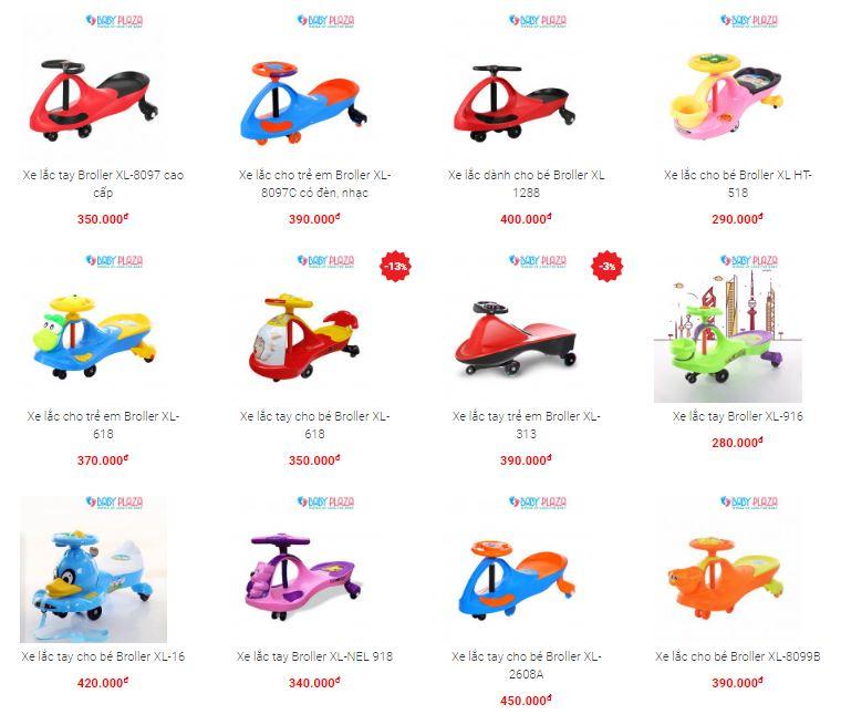 giá xe lắc trẻ em