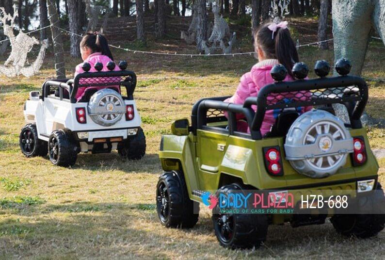 xe hơi điện địa hình cho bé hzb-688