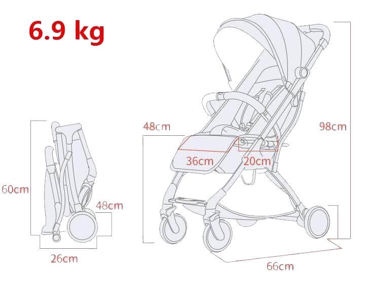 cách tháo lắp xe đẩy trẻ em