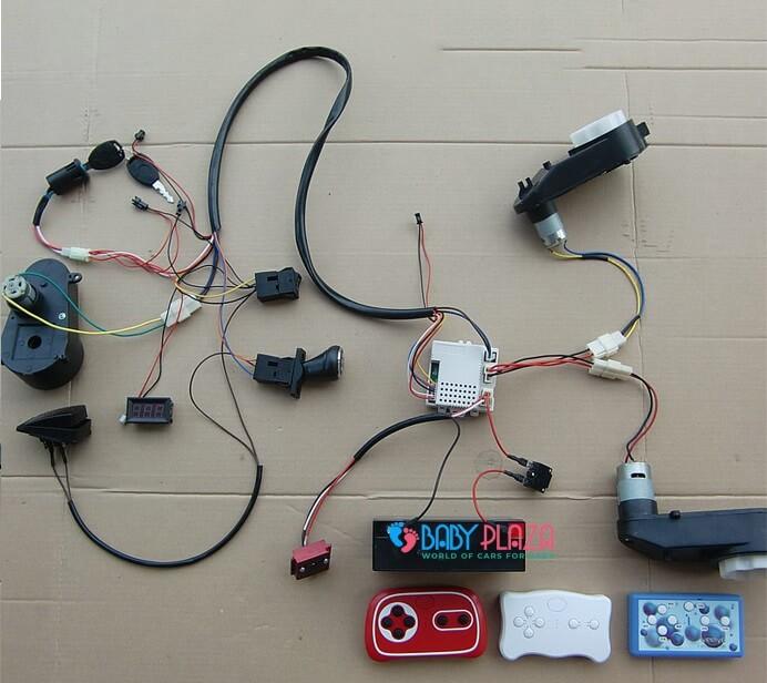 sơ đồ nói mạch điện xe ô tô điện trẻ em
