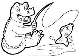 hình tô màu chú cá sấu ngộ nghĩnh