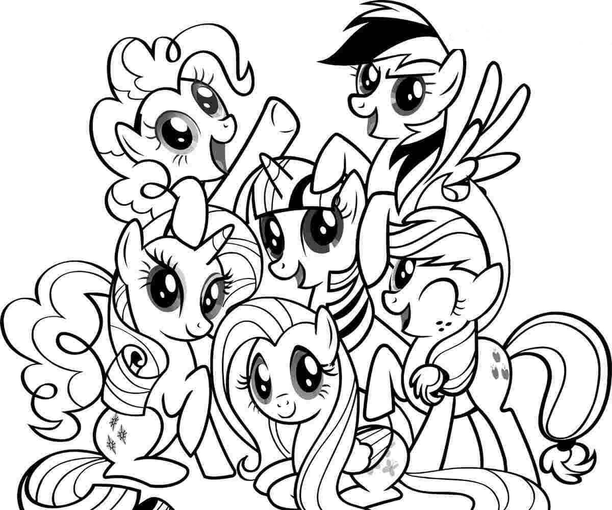 hình to màu cho bé ngựa pony