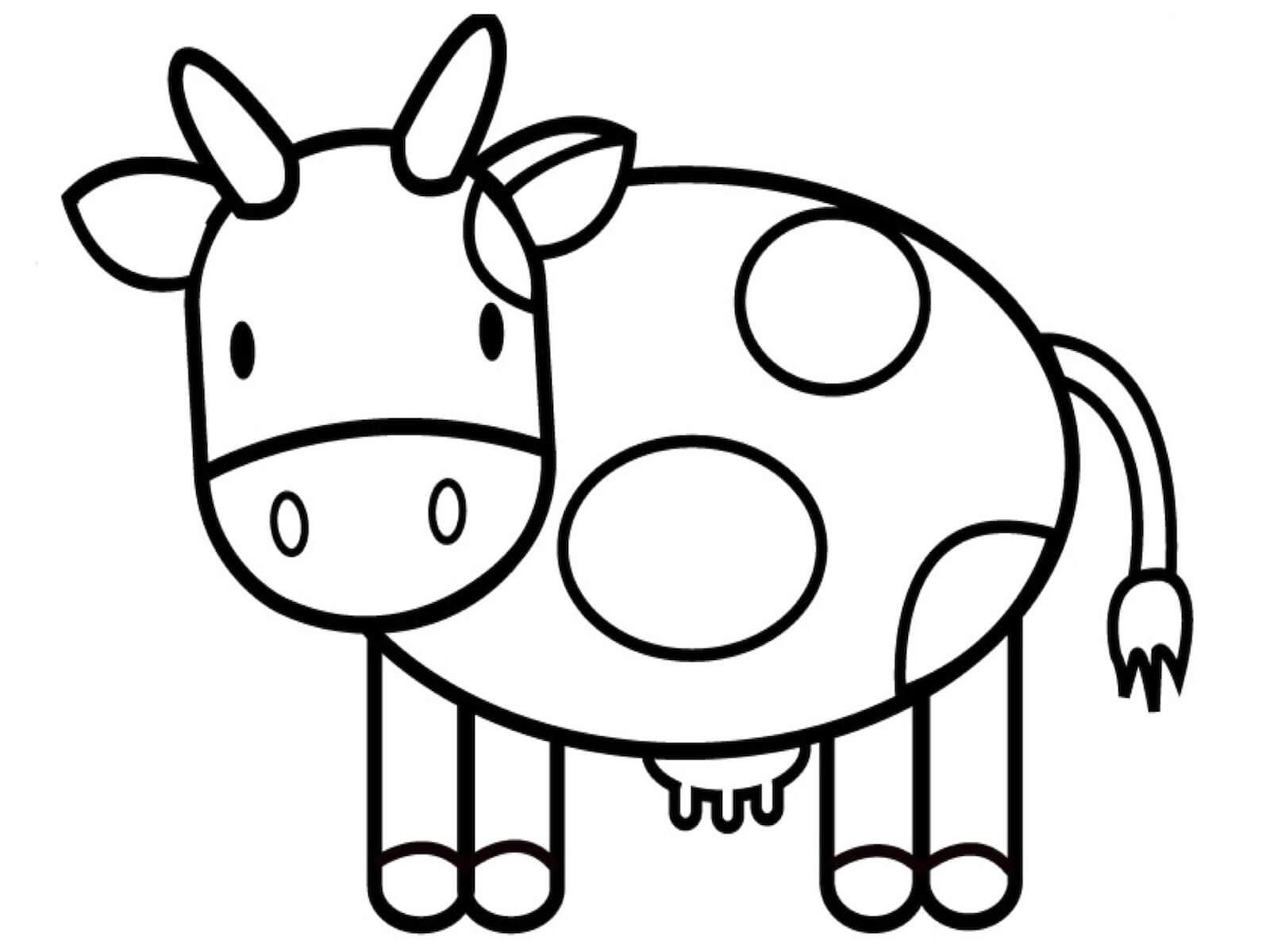 hình chú bò ngộ nghĩnh cho bé