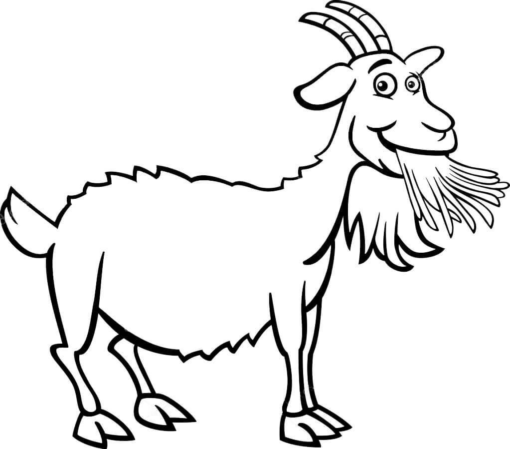bộ hình tô màu cho bé động vật hình con dê