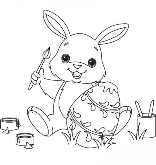tranh tô màu thỏ ngọc cho bé