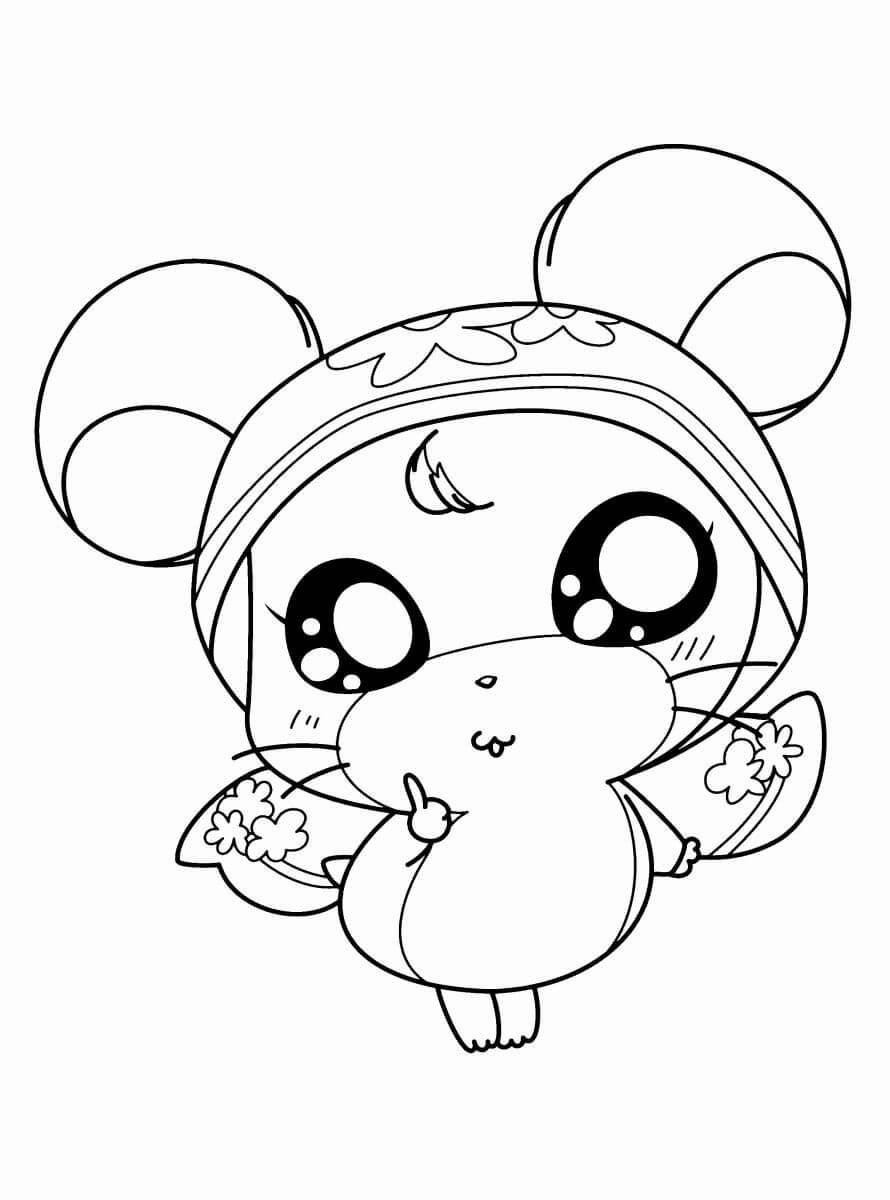 hình tô màu chuột cho bé
