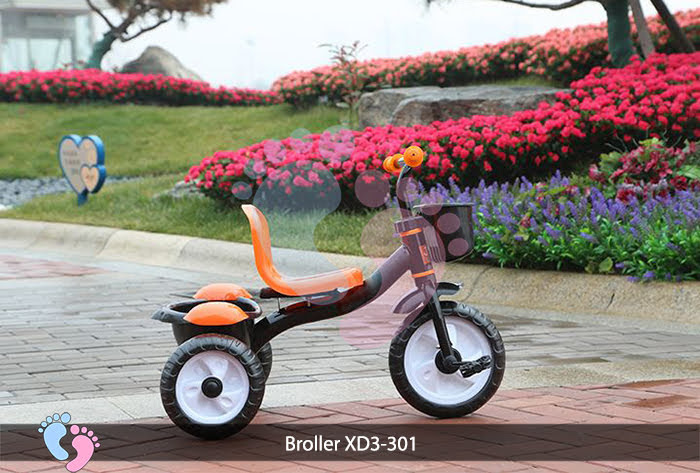 xe ba bánh có bàn đạp có giỏ xe xd3 301
