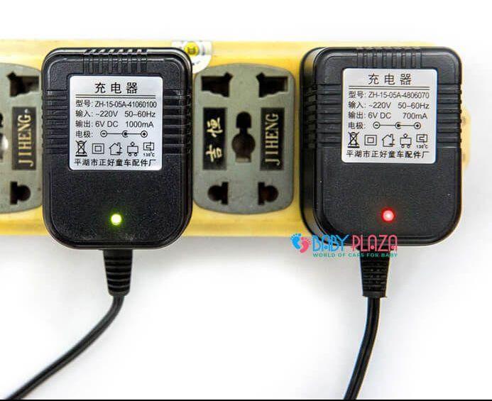 dây sạc ô tô điện cho bé 6V