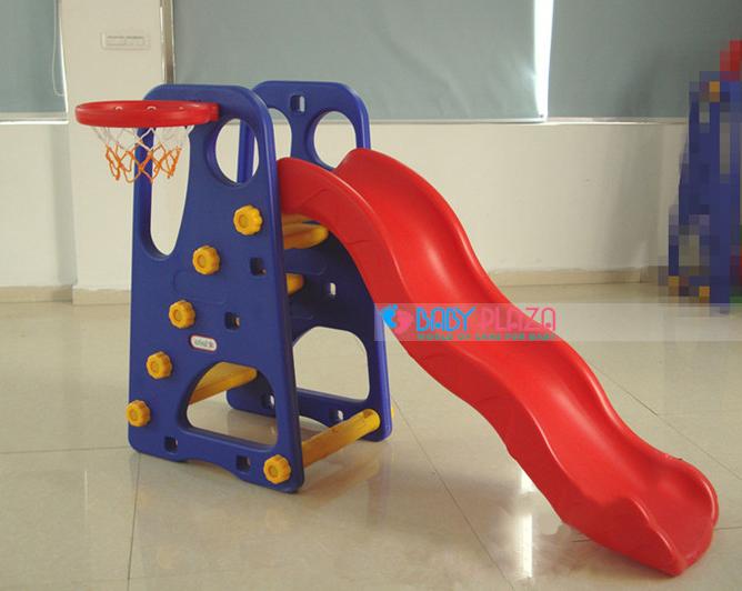cầu tuột chơi trong nhà cho em bé