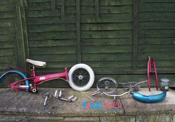 các bộ phận cần chú ý khi mua xe đạp cũ cho bé